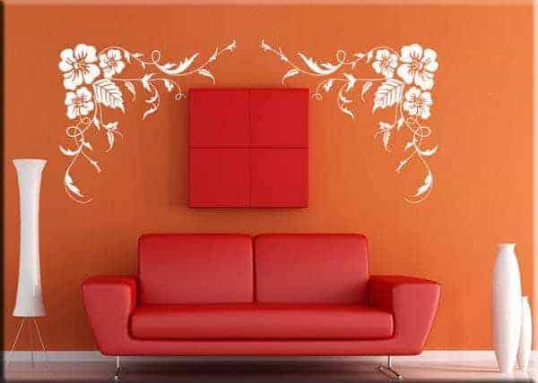 decorazioni adesive murali fiori
