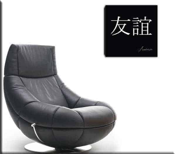 quadro moderno simboli cinesi amicizia