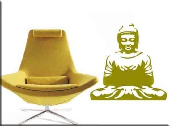 wall sticker buddha meditazione