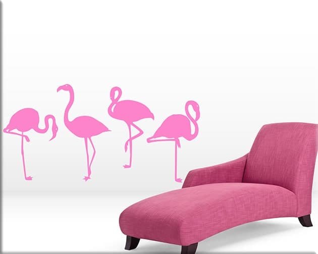 wall stickers decorazioni fenicotteri rosa