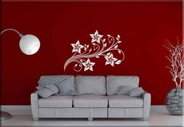 Adesivi murali fiori stilizzati arredo design