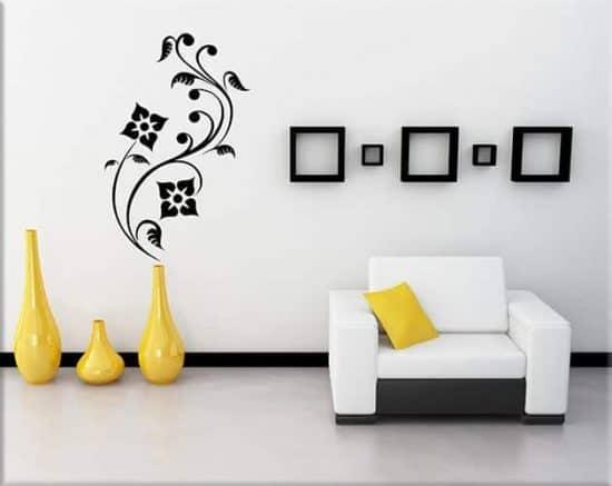 adesivi murali fiori stilizzati design arredo