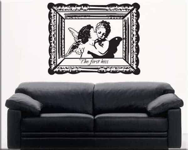 Adesivi murali primo bacio amore