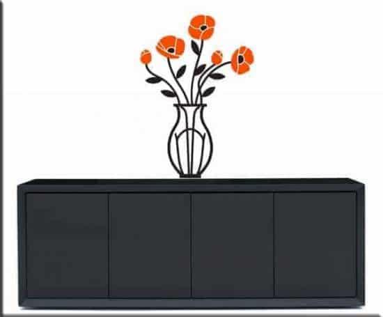 Adesivi murali vaso con fiori arredo