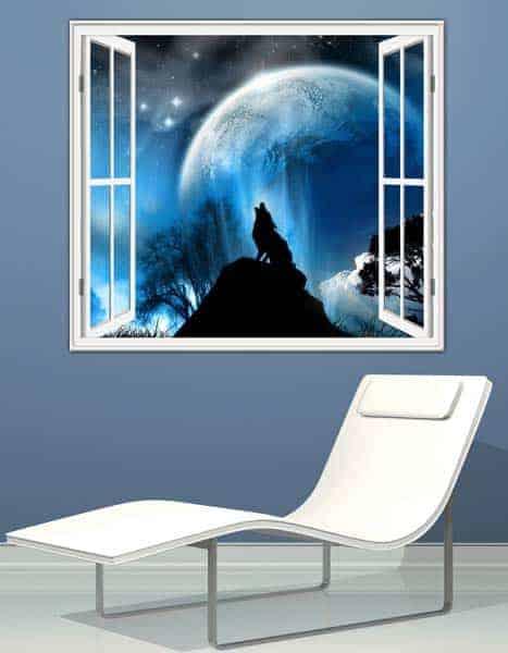 adesivo murale finestra decorazione arredo