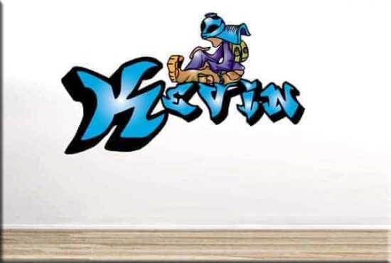 adesivo murale graffito nome personalizzato