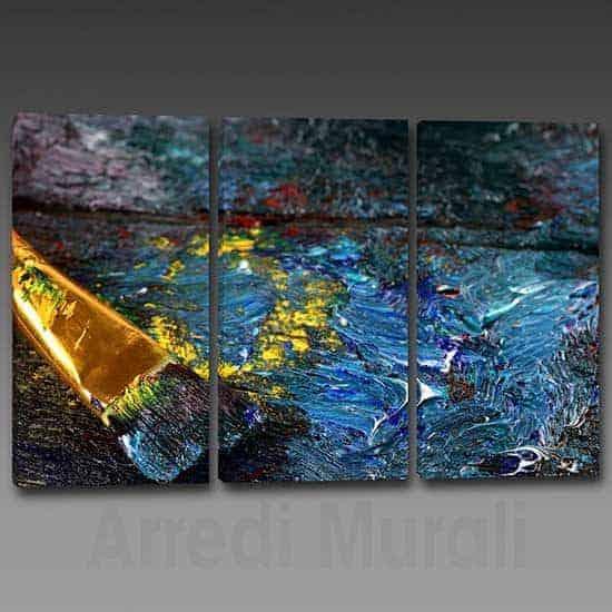 Quadri moderni arredo arte astratta 3 tele