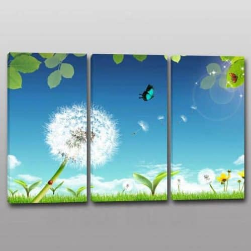3 tele per Quadri moderni soffioni paesaggio
