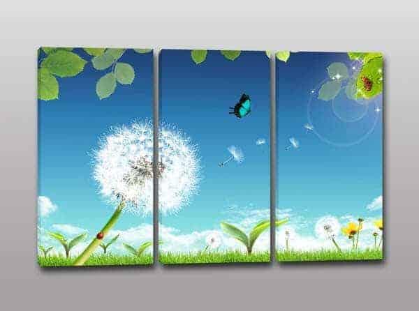 quadri moderni soffioni paesaggio natura