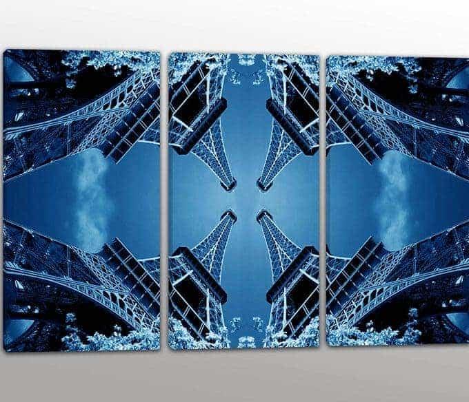 Tris quadri moderni torre Eiffel