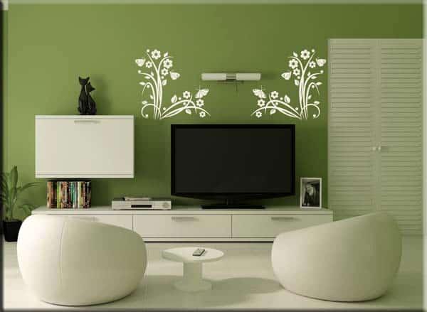 adesivi murali angoli fiori