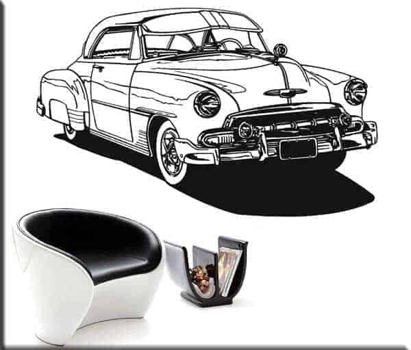 adesivi murali auto d'epoca