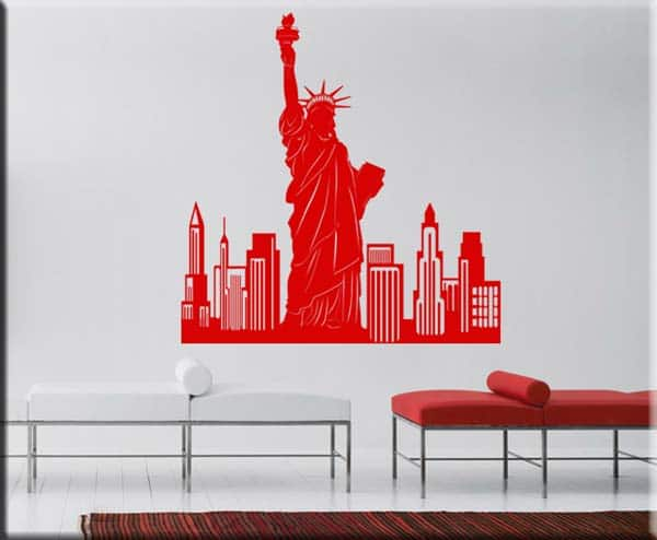 decorazioni adesive murali New York city