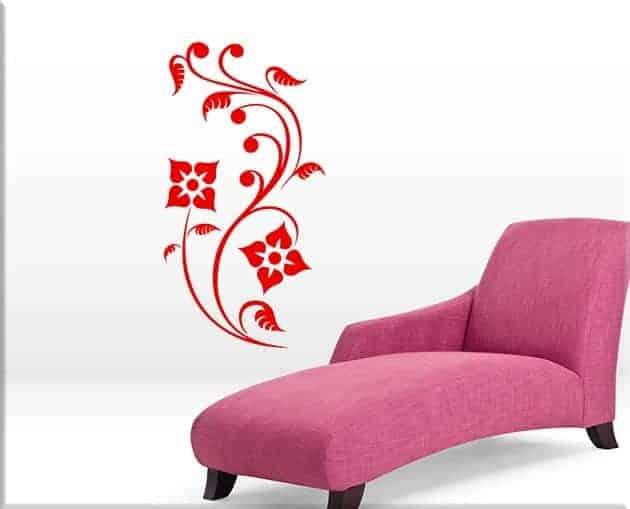 Wall stickers fiori stilizzati design arredo for Quadri fiori stilizzati