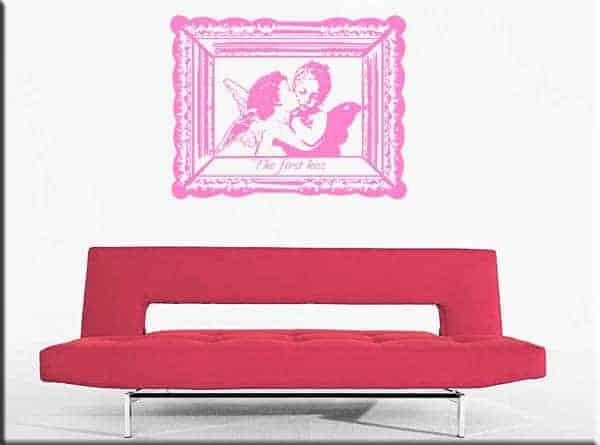decorazioni adesive murali primo bacio amore
