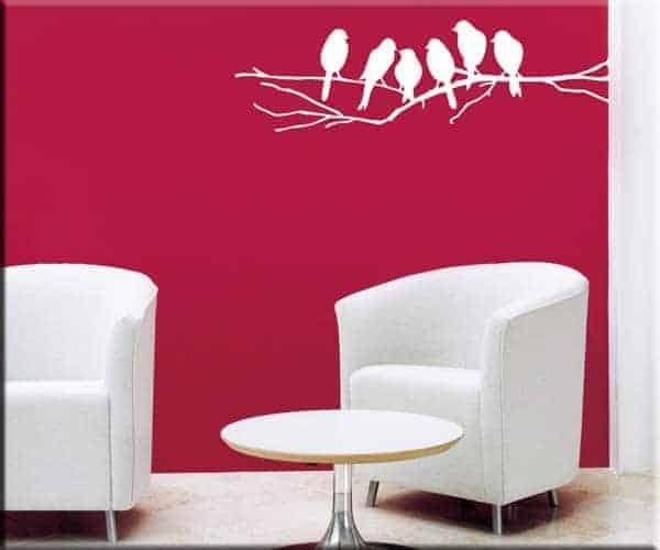 decorazioni adesive murali uccelli sul ramo