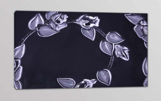 quadro moderno stampa fiori dipinti