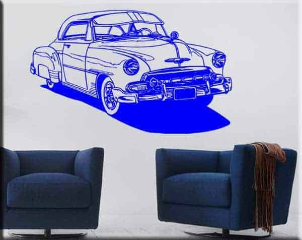 wall stickers auto d'epoca