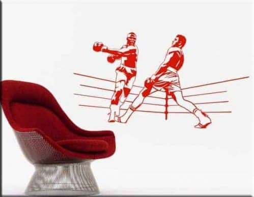 wall stickers boxe cassius clay