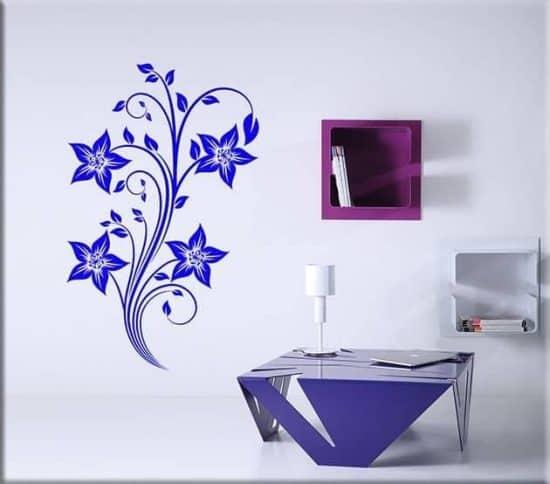 wall stickers fiori stilizzati arredo