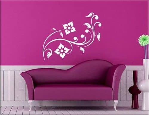 wall stickers fiori stilizzati design arredo