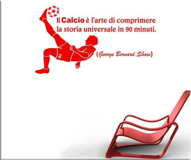 wall stickers frase calcio sport arredo