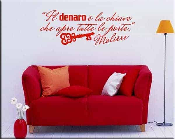 wall stickers frase citazione Molière