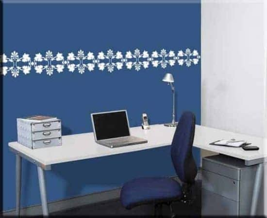 wall stickers greca floreale