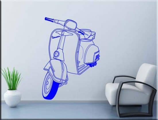 wall stickers vespa piaggio