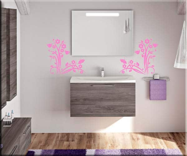 wall stickes angoli fiori
