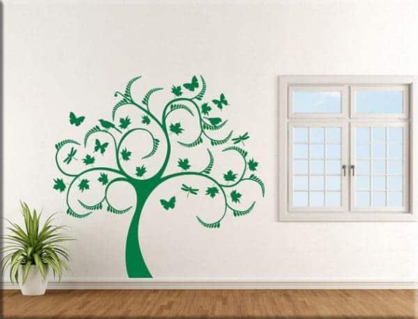 Adesivi da parete albero stilizzato arredo - Specchi adesivi da parete ...
