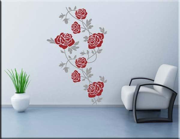 Adesivi murali fiori rose arredo floreale - Decorazioni da parete ...