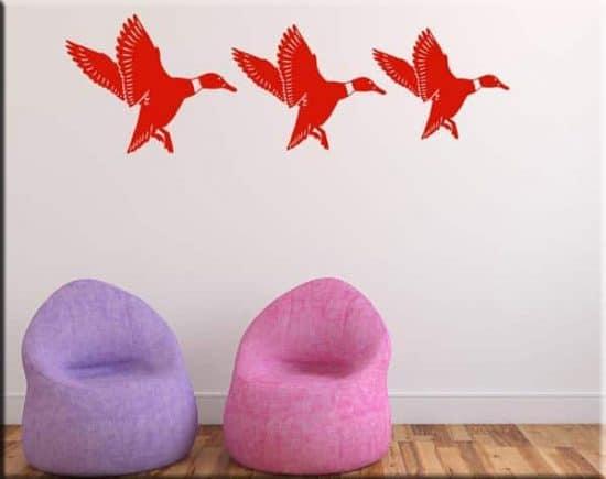 adesivi da parete tre anatre arredo