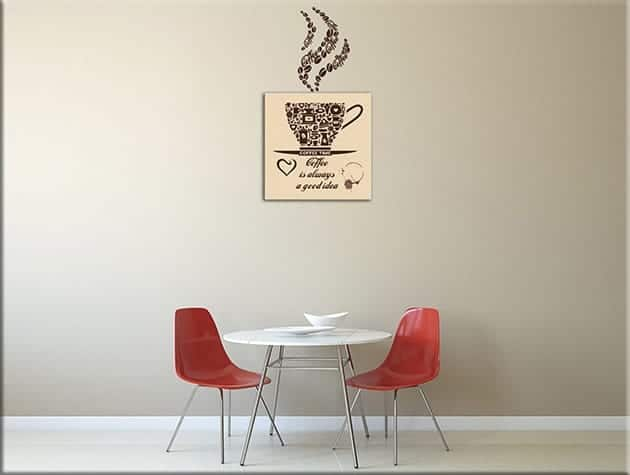 Adesivi murali con quadro moderno caffè