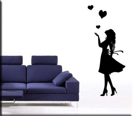 adesivi murali donna love arredo design