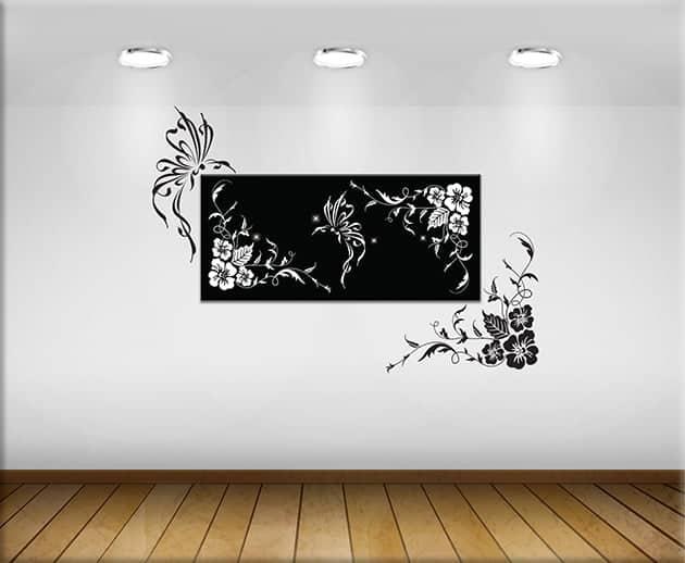 adesivi-murali-fiori-e-quadro-moderno