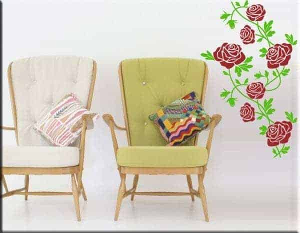 adesivi murali fiori rose arredo floreale