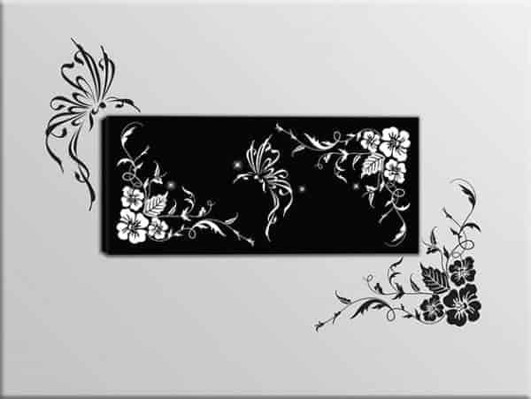 quadro moderno adesivi murali floreali