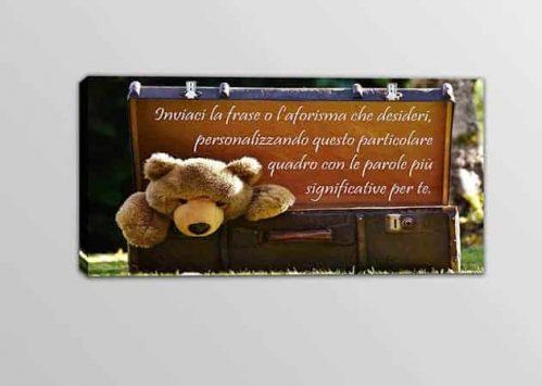 quadro moderno con frase personalizzata