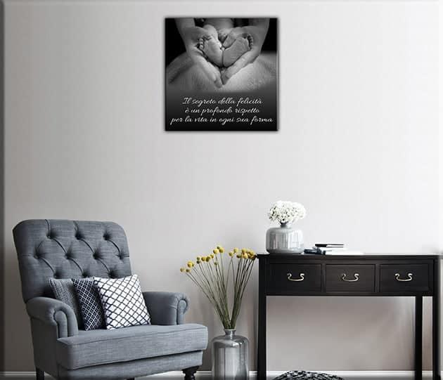 quadro moderno stampa tela frase