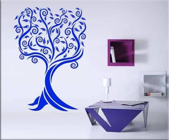 adesivi da parete albero stilizzato