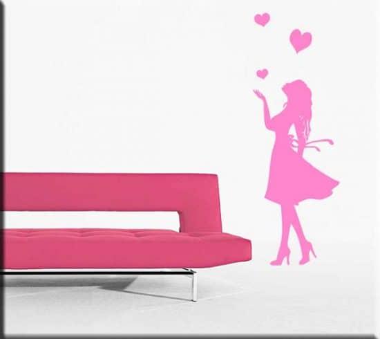 adesivi da parete donna love arredo