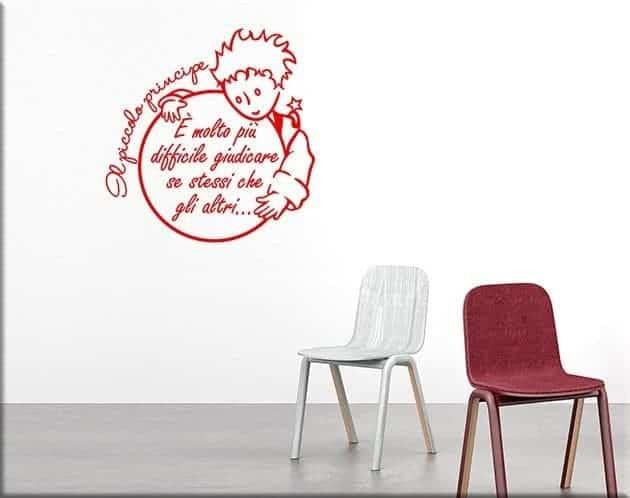 adesivi da parete frase il piccolo principe
