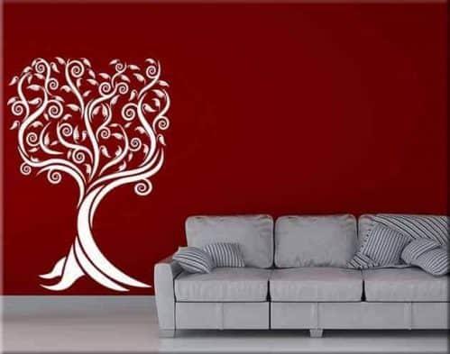 adesivi murali albero stilizzato design arredo