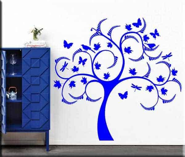 adesivi murali albero stilizzato design