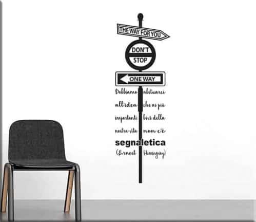 adesivi murali frase ernest hemingway