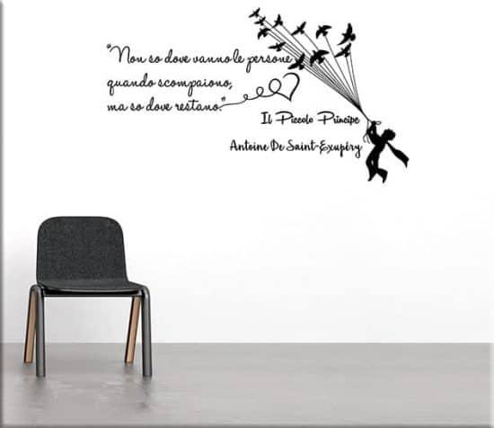 adesivi murali frase il piccolo principe arredo