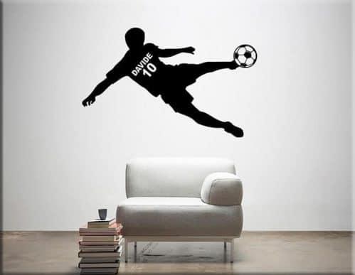 adesivo murale calciatore personalizzato