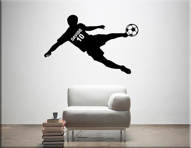 adesivo-murale-calciatore-personalizzato