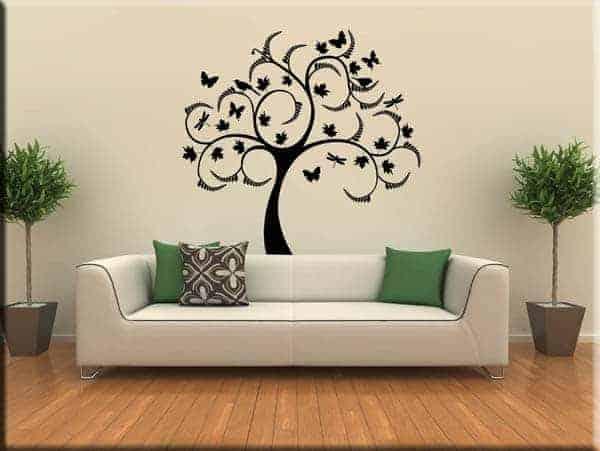 decorazioni adesive murali albero arredo